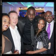 Steve Stoute Idris Elba and Cicely Saldana