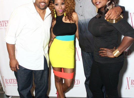 DJ Toomp, Necole Bitchie, guest and Latocha Scott