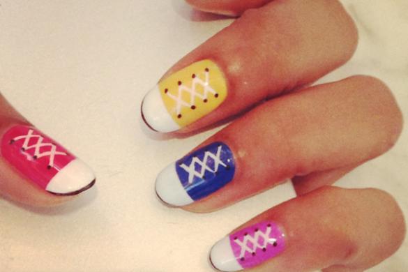 Necole Kane Bitchie #ManiMonday Converse Inspired Nails